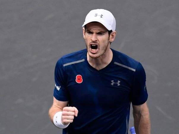 Image result for Andy Murray becomes world number one after Raonic withdraws from Paris Masters
