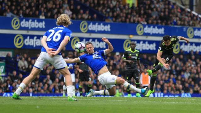 Pedro scored a vital goal for Chelsea in their win over Everton