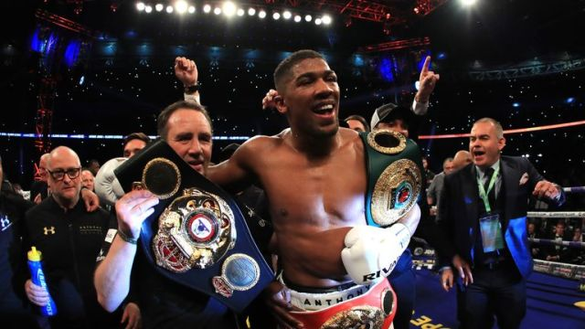 Anthony Joshua holds WBA and IBF titles after his win over Wladimir Klitschko