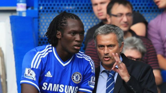 Jose Mourinho (right) allowed Romelu Lukaku to leave Chelsea in 2014