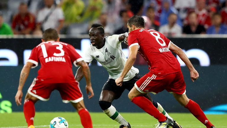 Sadio Mane shone as Liverpool thrashed Bayern in pre-season