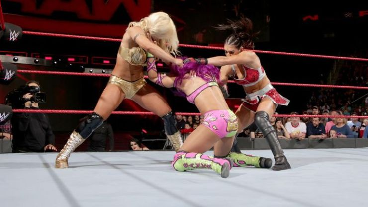 Sasha Banks suffered at the hands of Absolution this week