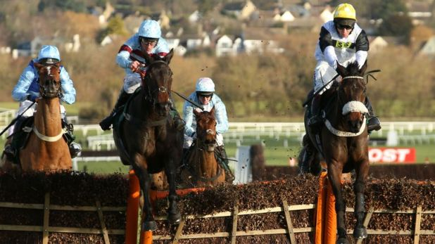 Western Rider and Richard Johnson (right) strike at Cheltenham - can the horse do so again?
