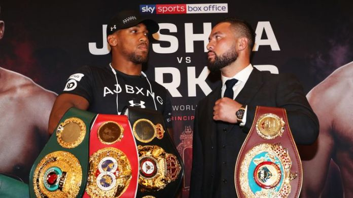 Joshua puts his WBA and IBF belts on the line against WBO champion Parker on March 31, live on Sky Sports Box Office