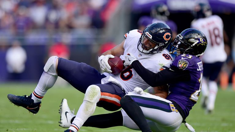 The Bears beat the Ravens 27-24 in a regular season meeting in 2017