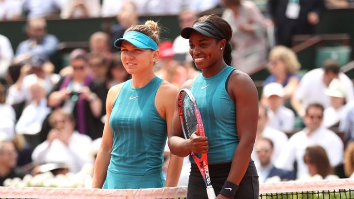 The pair were meeting for an eighth time and third time on clay Simona Halep defeats Sloane Stephens to win maiden Grand Slam at French Open | Tennis News Simona Halep defeats Sloane Stephens to win maiden Grand Slam at French Open | Tennis News skysports simona halep sloane stephens 4331724