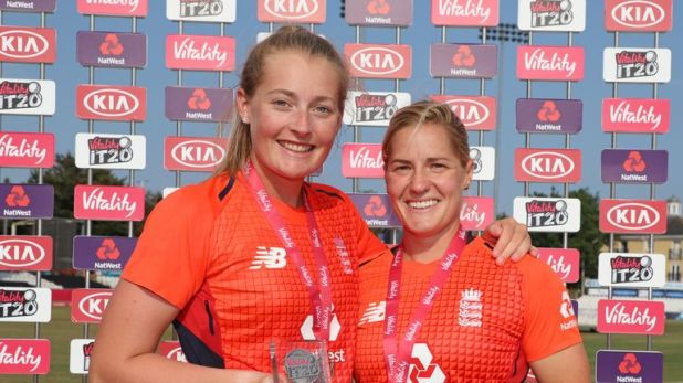 Ecclestone and Katherine Brunt starred during England's Tri-series victory in the summer of 2018