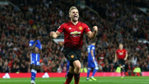 Luke Shaw scored Man Utd's winning goal against Leicester on Friday