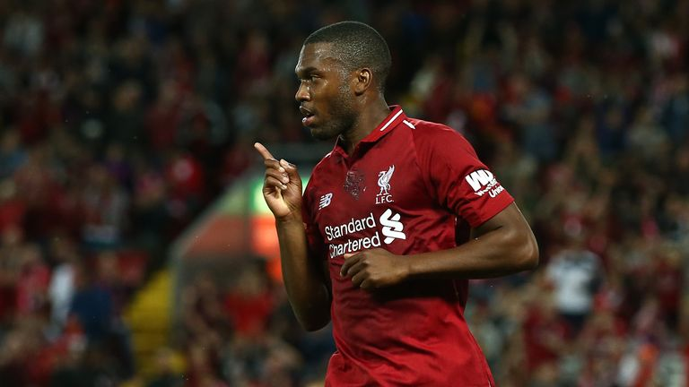 Sturridge celebrates his goal in Liverpool's win over Torino on Tuesday