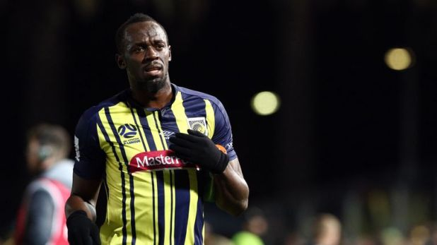 Bolt made his debut for Central Coast Mariners in August