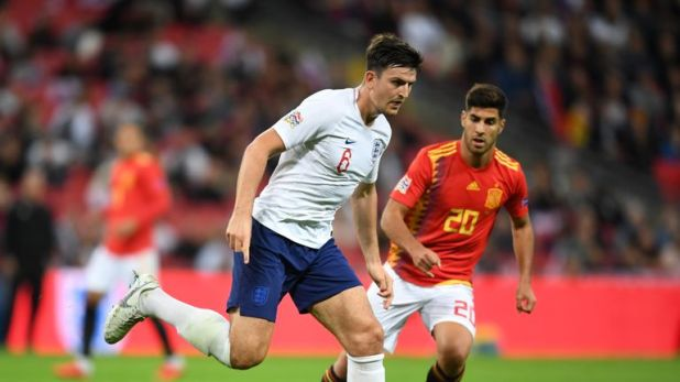 Maguire played the full 90 minutes for England against Spain at Wembley