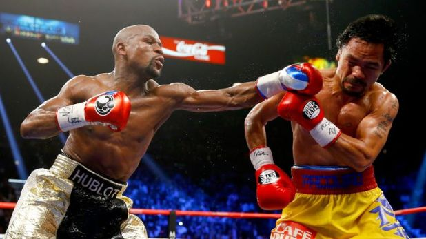 Mayweather beat Pacquiao by unanimous decision in 2015