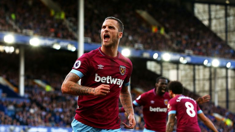 Marko Arnautovic scored against Everton last week and was awarded man of the match