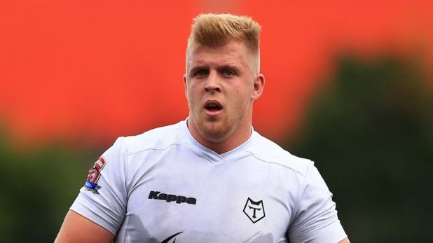 Toronto forward Jack Bussey appeared to bite the ear of Toulouse's Bastien Ader
