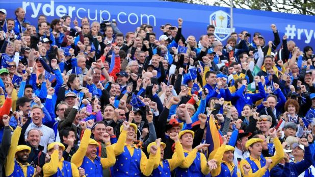 The crowd created a special atmosphere at the first tee at Gleneagles in 2014