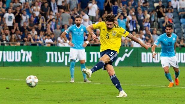 Charlie Mulgrew scored from the penalty spot as Scotland lost 2-1 against Israel last Thursday