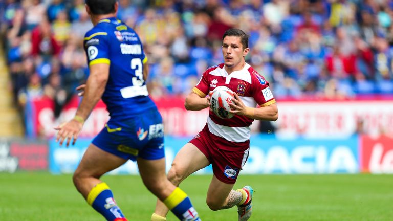 Wigan's French full-back Morgan Escare has been in super form this year