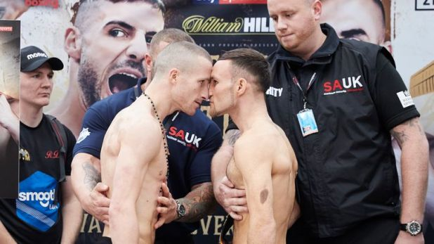 Robbie Davies Jr and Glenn Foot went nose to nose in Newcastle