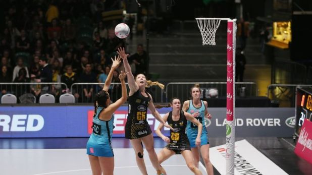 Defender Sam May has won two back-to-back Superleague titles with Wasps netball