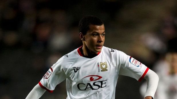 Dele started his career at Milton Keynes Dons