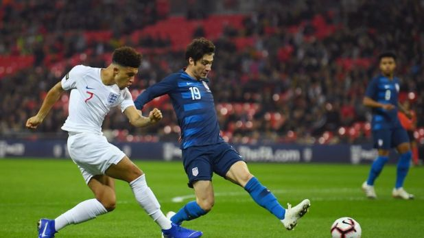 Sancho impressed at Wembley on his first England start in November