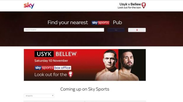 Go to Sky Sports pubfinder to see where you can watch it?