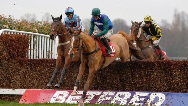 Ballydine and Sean Bowen (right) win at Sandown