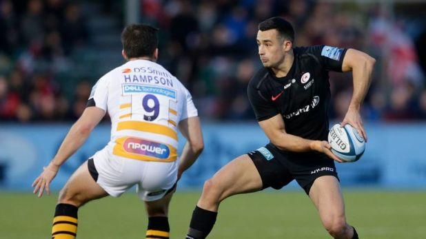 Alex Lozowski contributed 19 points as Saracens cruised past Wasps at Allianz Park