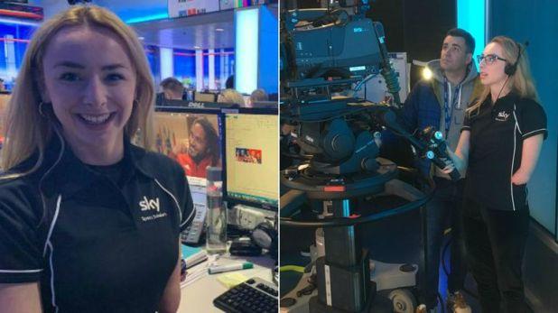Ellen Keane got a taste of life working at Sky Sports News