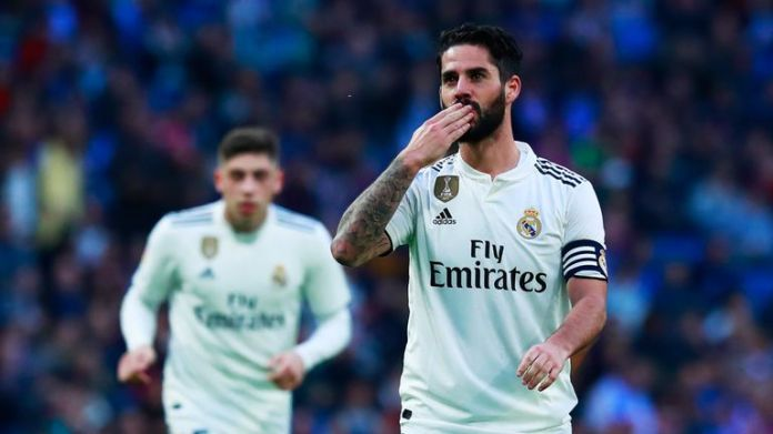 Isco scored twice in the 6-1 victory of Real Madrid