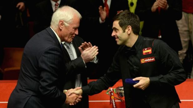 Barry Hearn and Ronnie O'Sullivan, pictured in 2014
