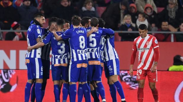 Borja Baston salvaged a point for Alaves in a 1-1 draw at Girona