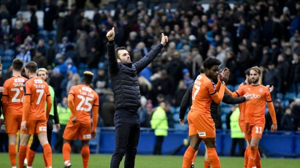 Luton - who were managed by Nathan Jones - celebrated forcing a replay with Sheffield Wednesday