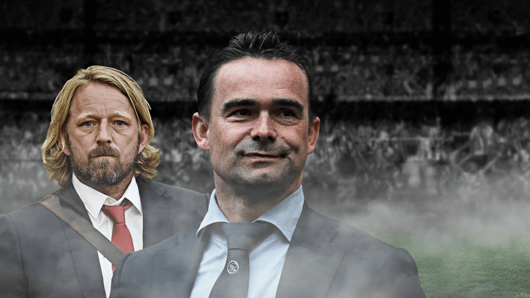 Football director Ajax Marc Overmars (right) received submission from Mislintat