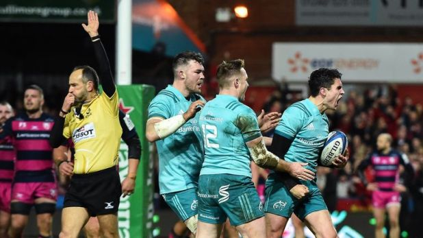 Munster and Joey Carbery (right) were extremely impressive in victory at Gloucester on Friday night