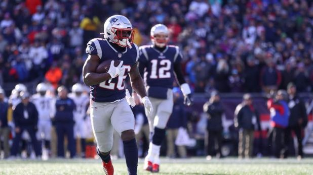 New England's rookie back had a fantastic day running the ball