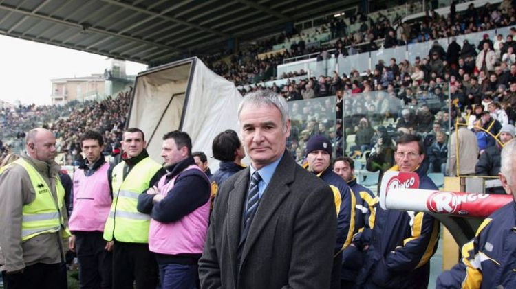 Ranieri performed miracles in keeping both Parma (pictured in 2007) and Cagliari in Serie A