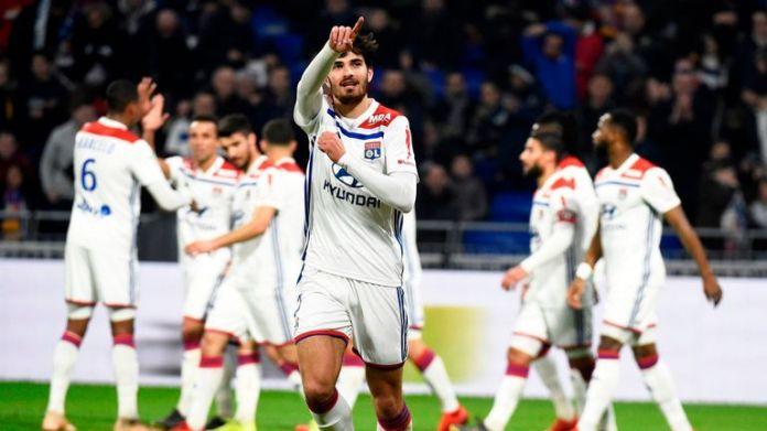 Martin Terrier scored the opener for Lyon against Guingamp