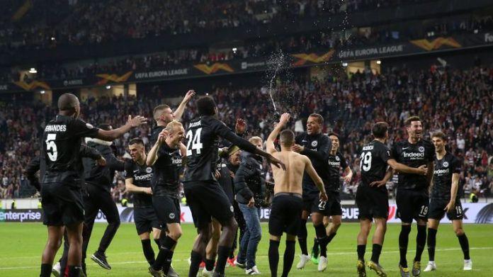 Frankfurt reach the semi-finals of the Europa League with away goals