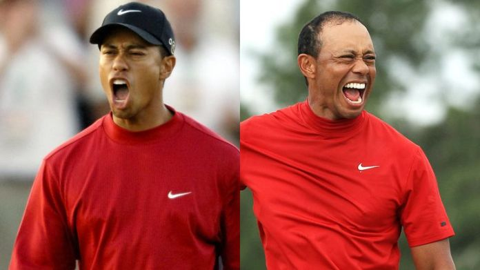 We look back at every celebration from all 82 of Tiger Woods' PGA Tour titles.