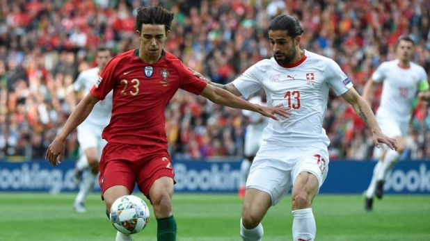 Felix made his international debut in the UEFA Nations League semi-final between Portugal and Switzerland