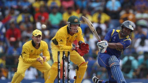 Kumar Sangakkara led the Sri Lanka recovery against Australia in 2011 before the rain arrived