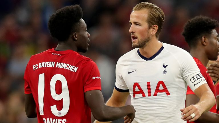 Harry Kane played 45 minutes against Bayern