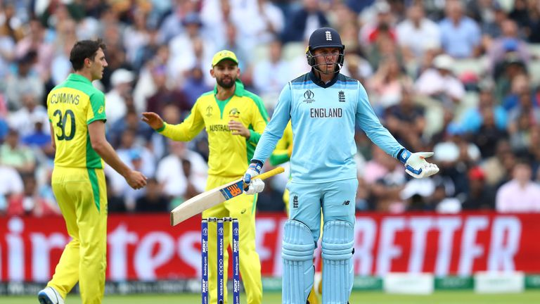 Jason Roy Fined For Reaction To Dismissal Against Australia