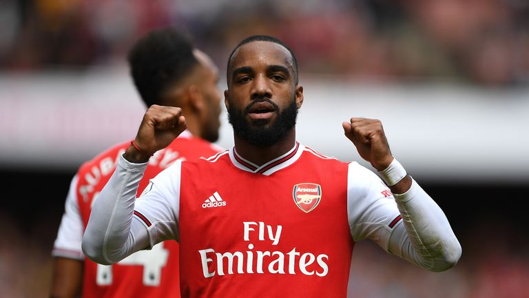 Alexandre Lacazette gave Arsenal an early lead in the first half