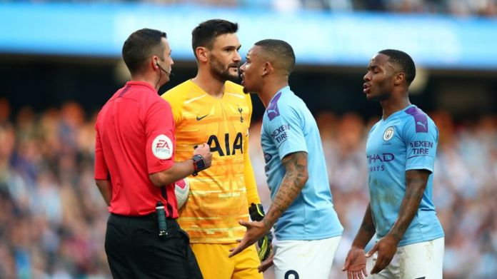 Gabriel Jesus had a stoppage-time disallowed in Manchester City's 2-2 draw against Tottenham last Saturday