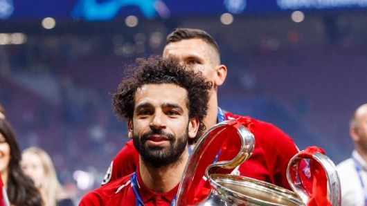 Mohamed Salah scored from the penalty spot in Liverpool's 2-0 win over Tottenham in last season's Champions League final