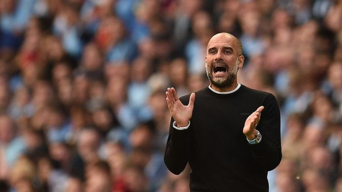 Pep Guardiola is trying to lead City to the third consecutive title
