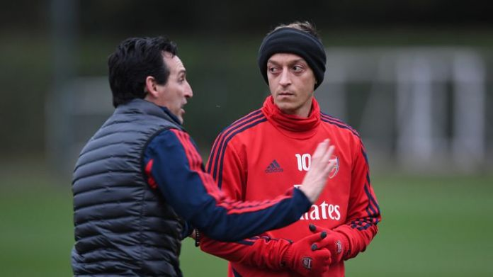 Former Arsenal head Unai Emery says he has always been positive with Mesut Ozil