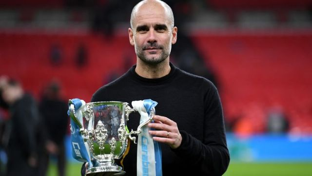 Pep Guardiola and Manchester City have won three consecutive Carabao Cups